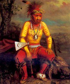 Fox Chief Mesquakie Indian 15x22 George Catlin Native American Indian Art | eBay