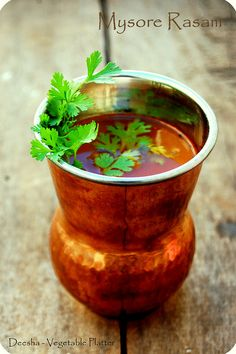 Mysore Rasam - Another South Indian lentil soup.