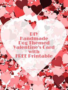 Free Printable: Dog Themed Valentine Card