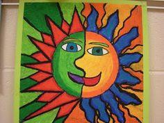 Aztec Sun art project for kids