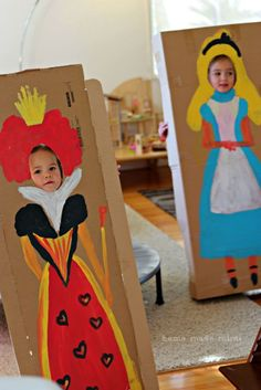 Alice in Wonderland tea party, un-birthday, mad tea party, kids birthday party, face-in-holes by rhonda.white.52206