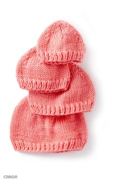 How to knit hats for babies - free knitting patterns - cute gift ideas for a baby girl - knitting tutorial