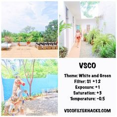 VSCO filters for white Instagram feed.