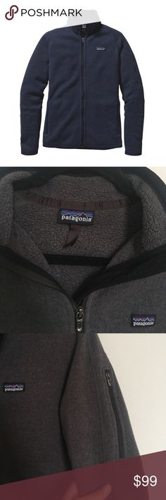 Patagonia women's Better Sweater full-zip Super soft, charcoal gray Patagonia Better Sweater fleece. Full zip and zippers on all of the pockets. One shoulder pocket for extra storage. Size is women's large. Dark gray color with black trim. Really warm, great quality, and perfect for chilly nights or fall days outside. Patagonia Jackets & Coats