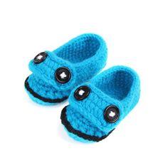 Blue Crochet Baby Boy Shoes