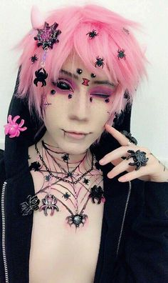 Hair pastel goth outfit 58 Ideas for 2019 Pastel Goth Makeup, Pastel Punk, Pastel Goth Fashion, Pastel Hair, Kawaii Fashion, Pink Hair, Mode Kawaii, Kawaii Goth, Cute Emo Boys