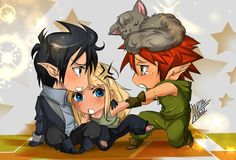Ash Meghan And Puck Chibi by BLUEWATERPROD.deviantart.com on @deviantART