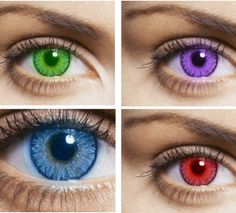 Recevez des lentilles de couleurs gratuites !