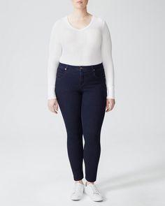 341e19809a6 Seine Mid Rise Skinny Jeans 32 Inch - Dark Indigo - Universal Standard