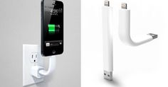 Trunk is a USB charging cable with a Lightning connector on the other side, and it's rigid enough to hold your iPhone 5 in whatever position you desire.