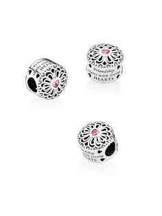 This ornamental button-inspired charm boasts a pretty filigree pattern  framing a · Pandora Friendship CharmsPandora Bracelet ... 7c498469a4