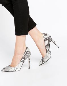 Image 1 of ASOS PLAYFUL Wide Fit Pointed Heels
