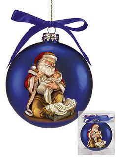 Adoring Santa Ornament