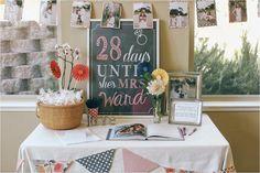 Wedding Bridal Shower Days until she's Mrs. Sign,  PRINTABLE DIGITAL file, modern chalkboard style Sign