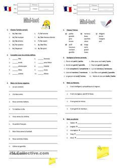 Learning French or any other foreign language require methodology, perseverance and love. In this article, you are going to discover a unique learn French method. French Worksheets, English Grammar Worksheets, French Language Lessons, French Lessons, English Language, French Teaching Resources, Teaching French, Learning French For Kids, French Alphabet
