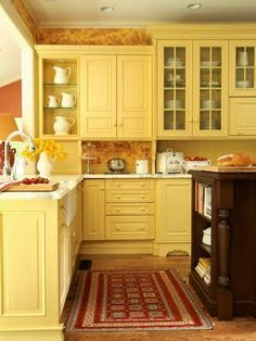 9 best yellow cabinets images kitchen yellow small kitchens yellow rh pinterest com