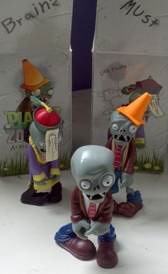 Plants vs Zombies action figure (just one, the fellow with the traffic cone), image courtesy of Pocket Gamer