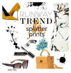 """""""Splatter Prints"""" by heather-reaves ❤ liked on Polyvore featuring Hédara, Bobbi Brown Cosmetics, Simons, NARS Cosmetics and paintiton"""