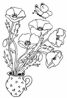 Poppy Coloring Page 4 Is A From FlowersLet Your Children Express Their Imagination When They Color The Will Never Be