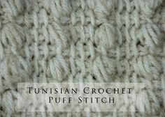 Tunisian Crochet Puff Stitch