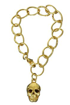 Goudkleurige armband met schedel