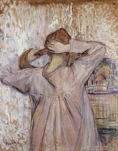 """sublimespy: """" Henri Toulouse-Lautrec La Toilette (Celle qui se Peigne) """""""