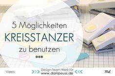 5 Möglichkeiten Kreisstanzer zu benutzen | Basteltipps mit Circle Punches von Mel für www.danipeuss.de Scrapbooking Stempeln Mixed Media
