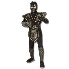 Gold Dragon Warrior Ninja Costume now available at http://www.karatemart.com