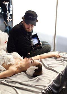 Natalie Portman y Darren detrás de camaras Black Swan