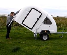This little camper folds out in seconds Like or share videosgoviral.com for more videos!