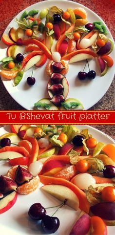 Celebrate Tu B'Shevat - the Jewish New Year for Trees - with a delicious platter featuring 15 (or more!) gorgeous tree-grown fruits.