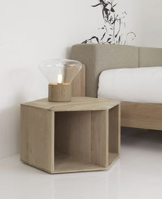 Solid wood coffee table / bedside table - Wewood