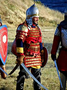 Byzantine warriors - An 11th C reconstruction of the klivanion of St. Nestorius by Hellenic Armors.