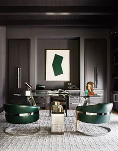 Modern Home Office Furniture Modern Home Office Furniture. Your home office can be really messy or it can be really clean. Interior Design Magazine, Salon Interior Design, Interior Design Photos, Home Office Design, Home Office Decor, Home Decor, Office Designs, Home Office Paint Ideas, Masculine Office Decor