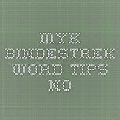 Myk bindestrek * Word-tips. Coding, Technology, Words, Tips, Tech, Advice, Tecnologia, Horse, Programming
