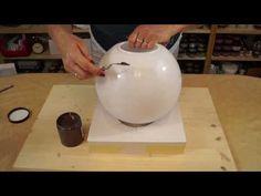 Kugellampe mit Facettenlack/RuthvonG