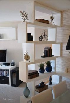 Room Divider Ideas is good space divider ideas is good room dividers and partitions is good dining and living room partition designs Living Room Divider, Living Room Decor, Dining Room, Room Kitchen, Room Divider Ideas Bedroom, Kitchen Tiles, Kitchen Living, Dining Area, Kitchen Design