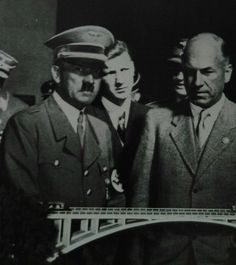 Hitler next to Fritz Todt looking over road building project