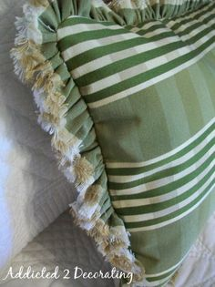 Addicted 2 Decorating » Pillow With Selvage Ruffle