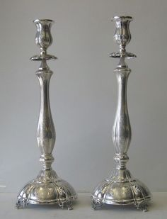 Fine Sterling Silver Candlesticks BY PCA