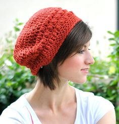 Loose Slouch Beret Crochet Ladies Hat Choose Your by maybematilda, $27.00