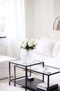Minimalist monochrome living room decor