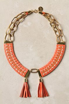 Woven Bars Necklace #anthropologie  I want it now, please