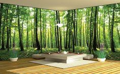 Фотообои лес в интерьере фото
