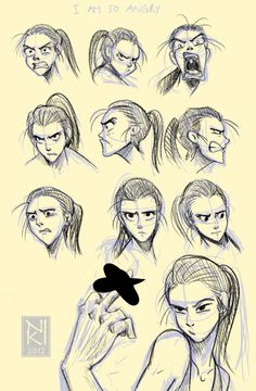Angry Faces by 09ShootingStar90.deviantart.com on @deviantART