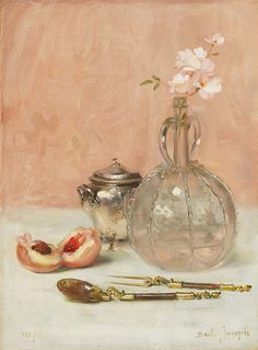 Joseph Bail (French, 1862-1921) - Still life, oil on canvas, 33 x 24,5 cm. 1887.