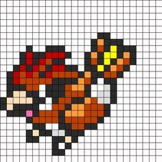 Pidgeotto Pokemon Sprite bead pattern