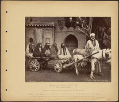 """896 visite de cimitier / Arab with three wives and two servants On their weekly Friday excursion to the cemetery. / """"Among the Muslims the separation of the sexes is as strict after. Old Egypt, Boston Public Library, Egypt Travel, Orient, Moorish, World History, Cemetery, Egyptian, Third"""
