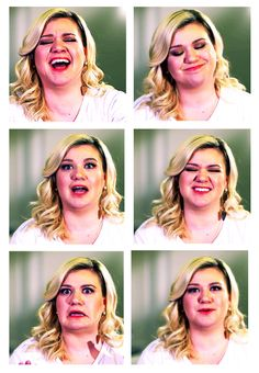 Kelly Clarkson funny faces