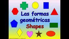 SHAPES IN SPANISH. LAS FORMAS GEOMÉTRICAS EN ESPAÑOL., via YouTube.